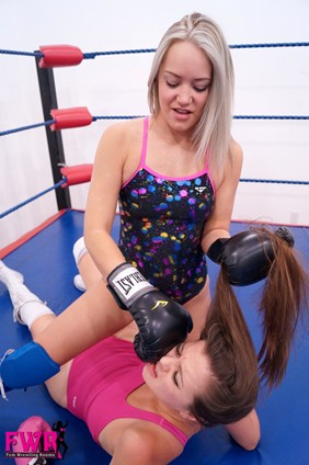 Becca boxes becky part two fem wrestling rooms