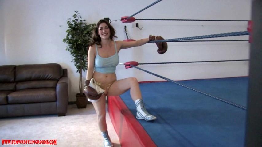 Kymberly Jane Knocks You Out Fem Wrestling Rooms